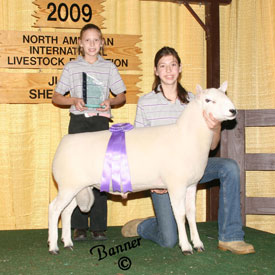 Grand Champion Ewe '09 NAILE Jr Cheviot Show